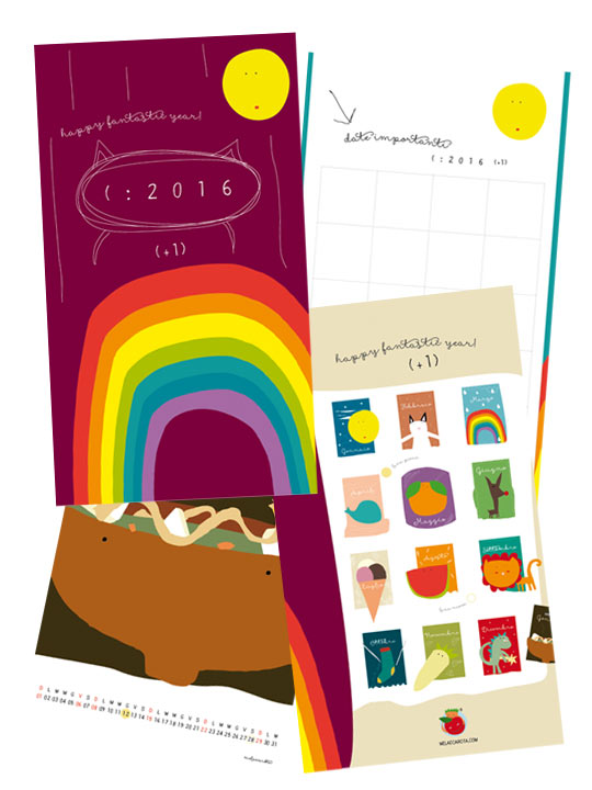 Calendario 2106 Mela e Carota